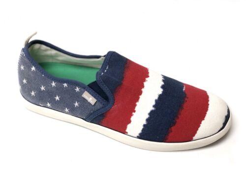 SANUK MENS RANGE FUNK America RED WHITE /& BLUE CASUAL SLIP ON LOAFER SHOE US 9
