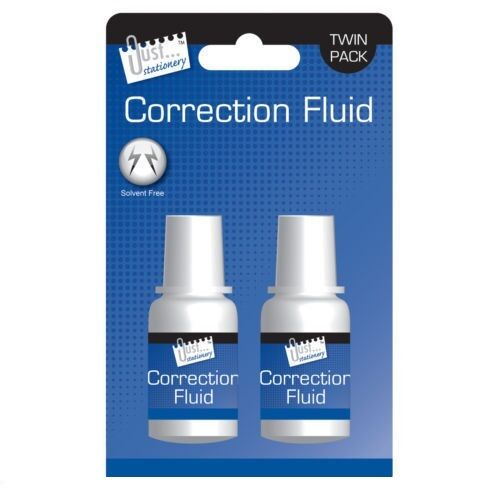 2 Pack Solvent Free Correction Fluid For Home Office School Business Hospital