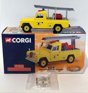 Corgi-diecast-escala-1-43-07106-Land-Rover-West-Sussex-Cuerpo-de-Bomberos