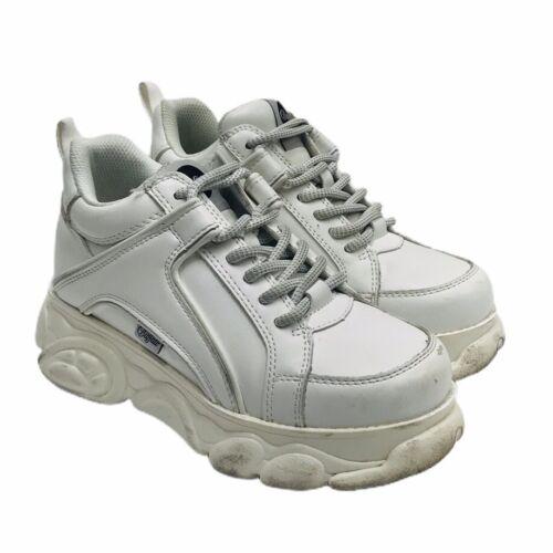 Buffalo London Womens White Platform Sneakers 1339