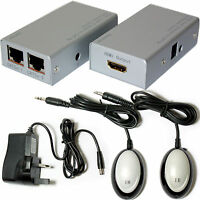HDMI CAT5/CAT6 Cable Extender Device Balun - RJ45 To 50m 1080p- IR Control