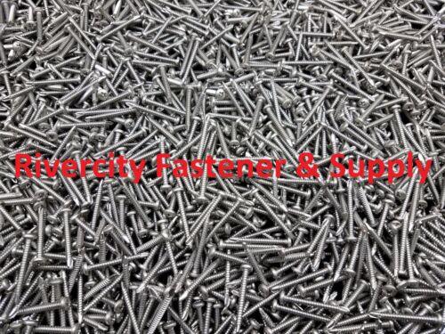 500 #10 x 1 Phillips Pan Head Self Drilling TEK Screws Stainless Steel 10x1