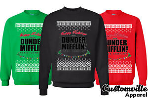 Dunder Mifflin Happy Holiday The Office Dwight Ugly Christmas
