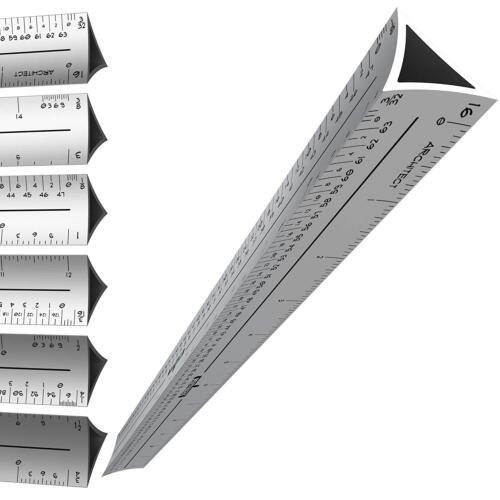 Triangulaire en Aluminium Rédaction échelle Règle de Noel vente Nouveau environ 30.48 cm Cadeau pour ingénieur 12 in