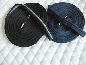 Longe-Longierleine extra weich,griffig ca.9 m lang,Karabiner,Extra lang, blau