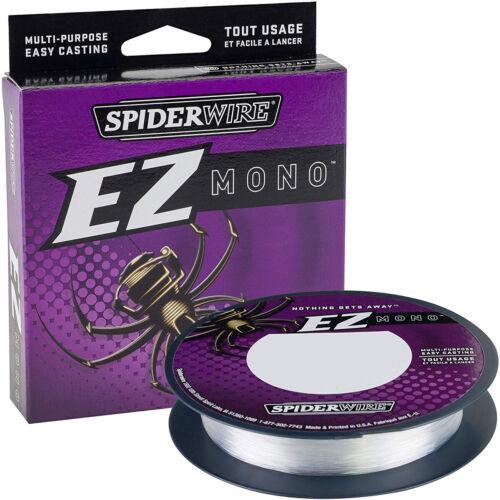 Spiderwire EZ Mono Fishing Line 220 yds Fluorescent Clear//Blue