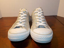 2000's Silver Sparkle Low Coverse Women's 9 FREE SHIPPING (used)