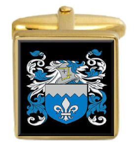Gastfreundlich Käfig England Familie Wappen Heraldik Manschettenknöpfe Schachtel Set Graviert FüR Schnellen Versand