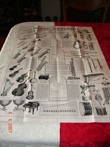 Details about 1939 LARGE MUSIC STORE POSTER PAN-AMERICAN BAND INSTRUMENT  CO  Elkhart, IN