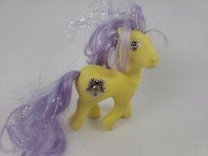 Vintage MLP G-1 Hasbro My Little Pony PRINCESS STARBURST Yellow 1987