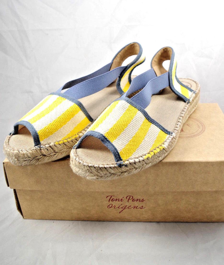 Toni Pons Estel-ser Amarillo Amarillo Amarillo Sandalias Alpargatas Made In Spain talla 37 EUR 6.5 US  precio al por mayor