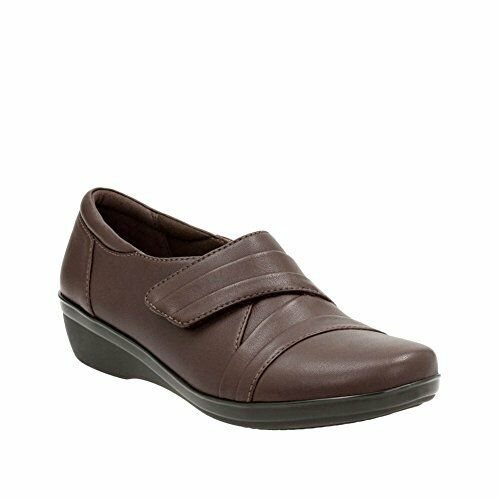 femmes Clarks Everlay Tara Dark marron Leather Medium Width Comfort  85 Retail