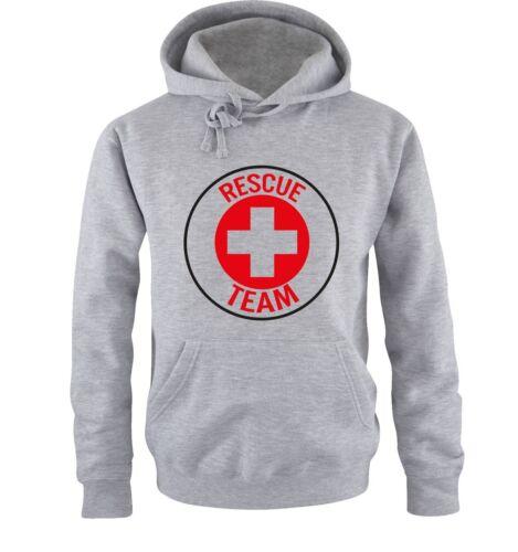 Rescue Team Herren Hoodie Gr S bis XXL Versch Farben