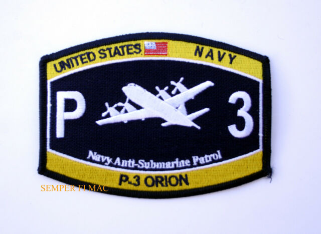 P-3 ORION US NAVY HAT PATCH P 3 VP ANTI-SUBMARINE PIN UP L-118 MAD BOOM NAS WOW