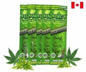 Juicy-Jay-039-s-Hemp-Wraps-Natural-5-Packs-2-Wraps-Pack-Total-10-Wraps