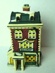 Christmas-Victorian-Village-Restaurant-Grandeur-Noel-1995-Porcelain