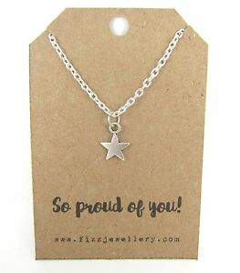 So-Proud-of-You-Silver-Plated-18-034-Necklace-Message-Card-Quote-Gift-Exam-Results