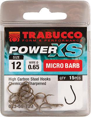 Micro Barb Feeder Fishing Hooks TRABUCCO POWER XS 15pcs