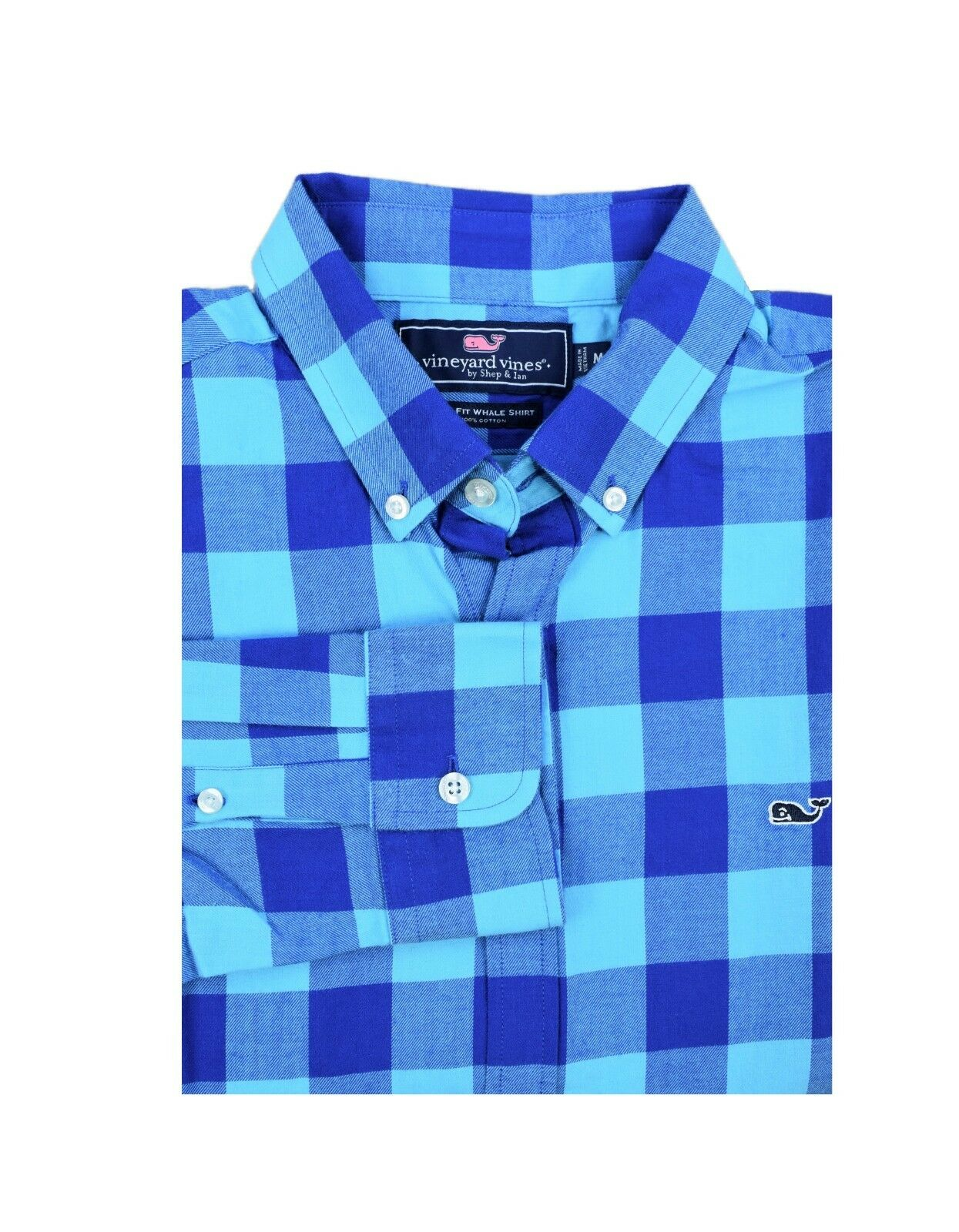 Vineyard Vines Men's Slim Fit Flannel Shirt Crepe Myrtle Check in Turquoise
