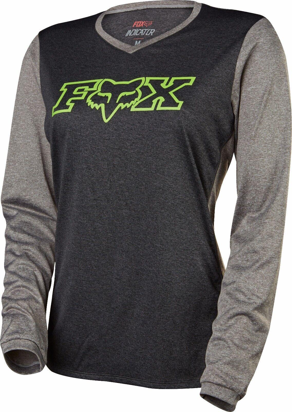 Fox Racing indicador de manga larga para mujer L S Jersey Heather Negro