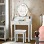 makeup dressing table with lighted mirror and touch switch