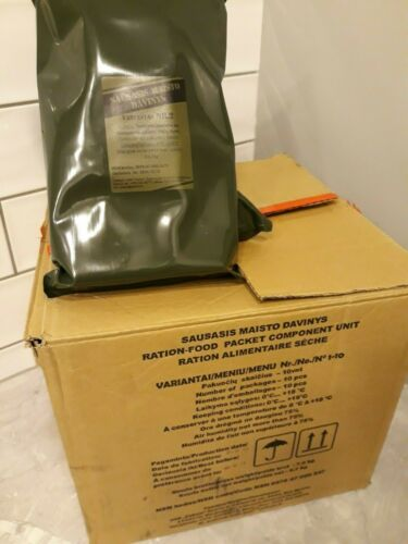 MRE Lithuanian Army military ration meal ready to eat 2021 LT FULL BOX 10 pcs.