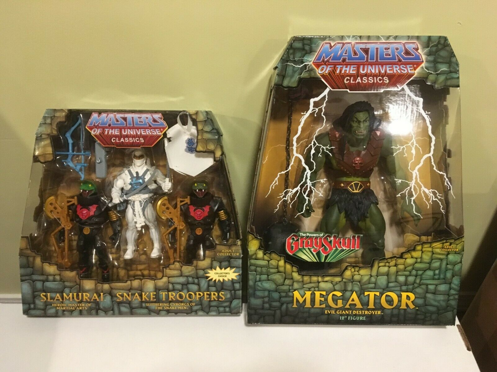 SLAMURAI SNAKE TROOPERS (Power Con) & MEGATOR Masters Of The Universe Classics