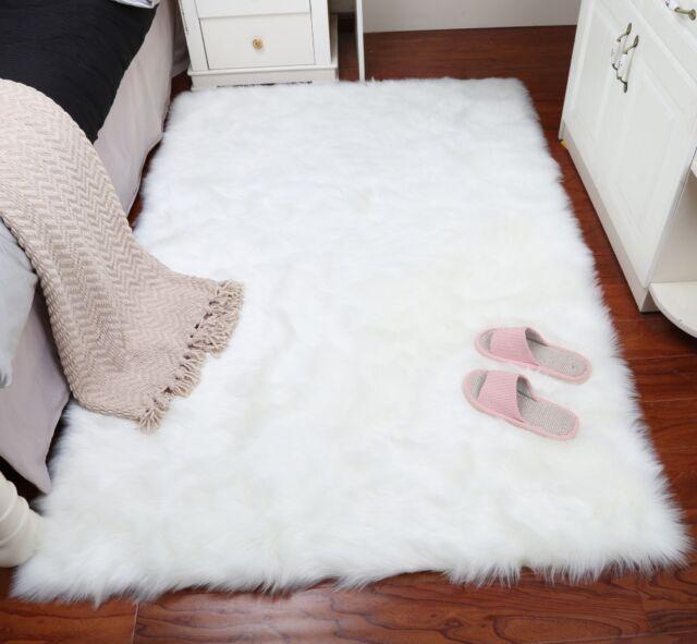 Faux Fur Area Rug Shaggy