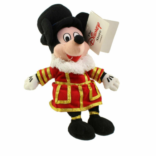 BEEFEATER MICKEY 10 inch Mickey Mouse Disney Bean Bag Plush - Mint w//Tag
