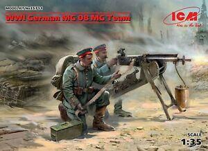 ICM-WWI-German-MG-08-MG-Team-1-35-Bausatz-Model-Kit-35711