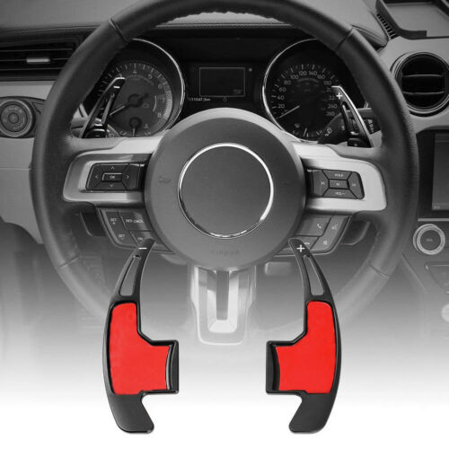 Aluminum Steering Wheel Shift Paddle Extension-Black fits Ford Mustang 2015-2019