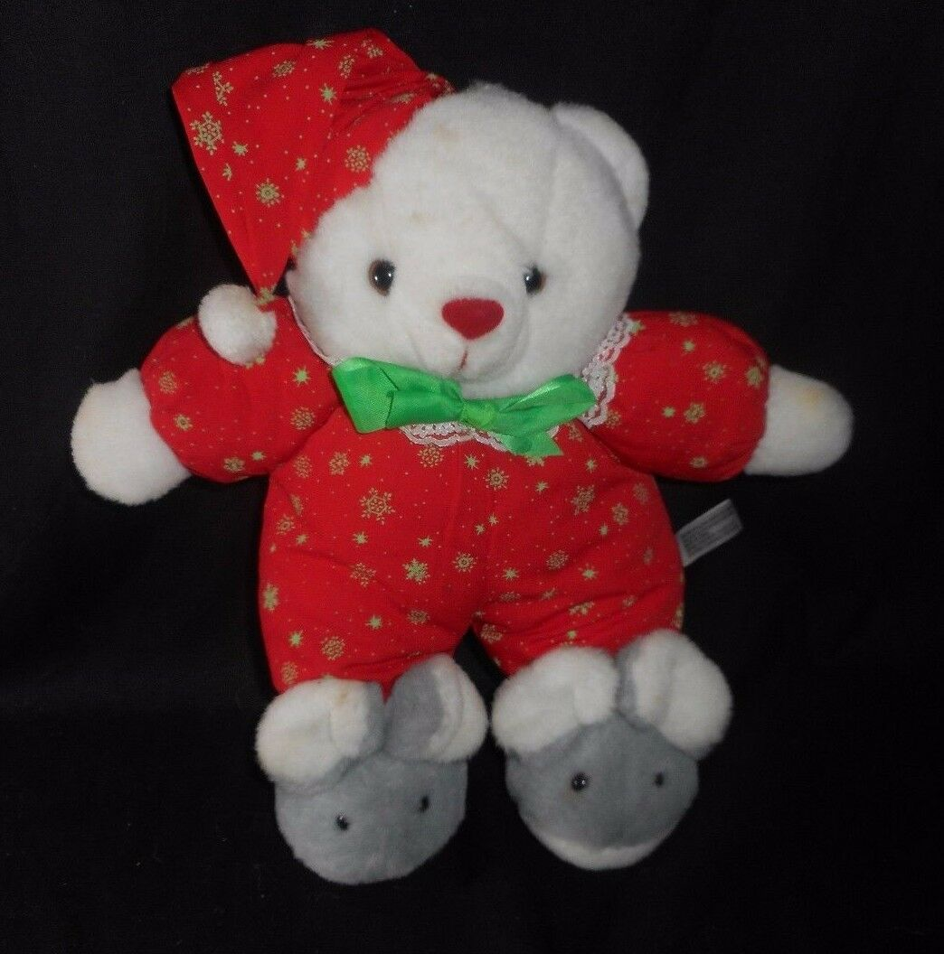 VINTAGE HOUSE LLOYD CHRISTMAS GLOW DARK TEDDY BEAR STUFFED ANIMAL PLUSH HOLIDAY