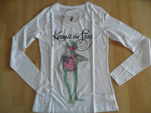 DISNEY Muppets Langarm-Shirt Kermit weiß Gr M NEU ZC