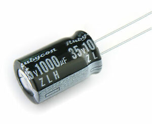 10pcs Rubycon ZL 1000uF 16v 105c  Radial Electrolytic Capacitor 10X20mm
