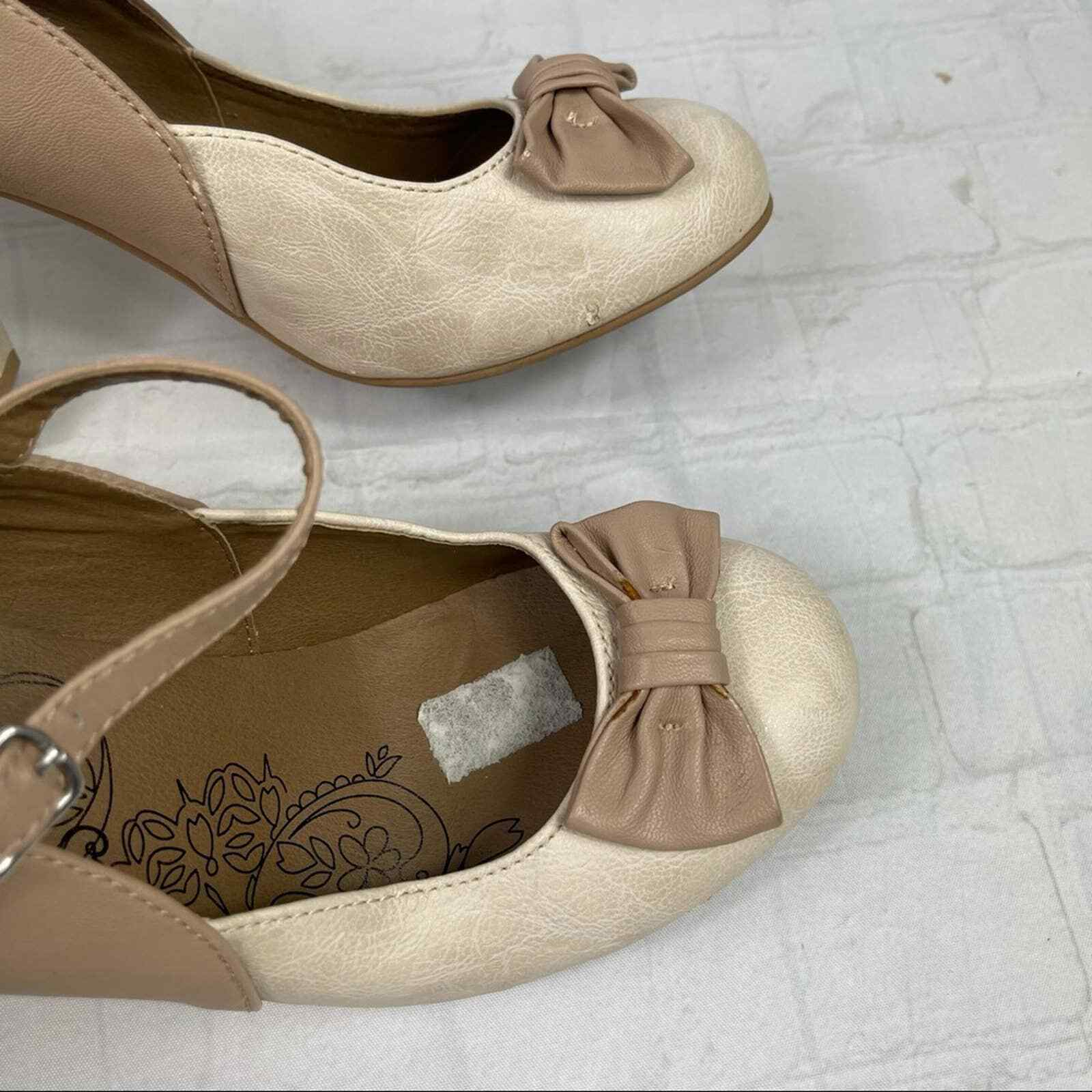 Jelly pop nude bow Mary Jane pumps - image 7