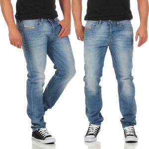 Diesel Jeans Buster 0685c Para Hombre Pantalones Regular Slim Tapered Azul Claro Nuevo Ebay