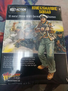 Kriegsmarine Squad German Army Bolt Action WWII Warlord Games New!