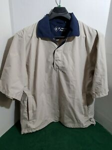 St-Andrews-Products-Mens-Large-Golf-Jacket-Short-Sleeve-Pull-Over-Button-Collar