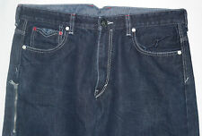 Mens Levi's 569 Loose Straight Dark Wash NotchBack Jeans Sz 36x34 Measures 38x31