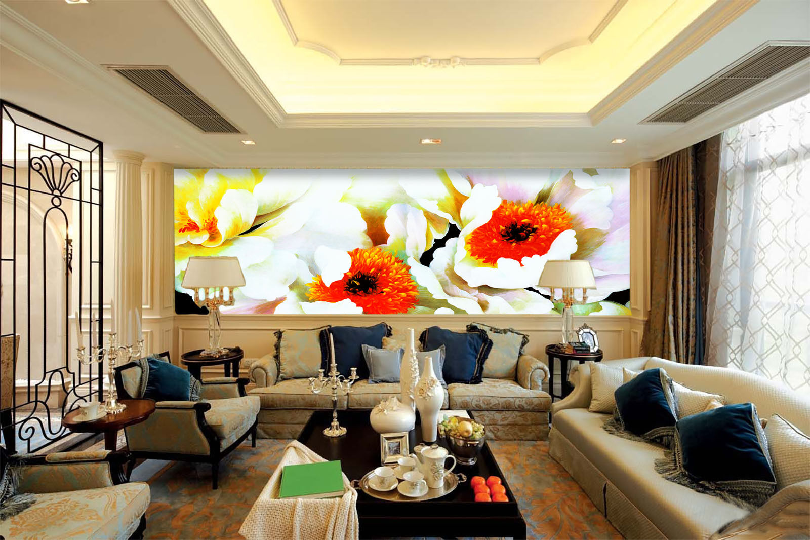 3D Rote Blütenknospen 7 Tapete Wandgemälde Tapete Tapeten Bild Familie DE Summer