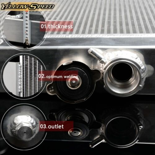 POLISHED NEW 3 ROWS CORE ALUMINUM RADIATOR 1966-1968 Chevy Corvette V8 7.0L