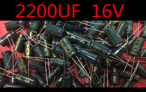 20 PCS New 2200UF 16V Radial Electrolytic Capacitor