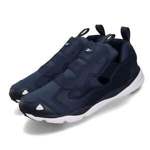 Reebok-Furylite-3-0-Navy-White-Men-Running-Casual-Slip-On-Shoes-Sneakers-FU9078