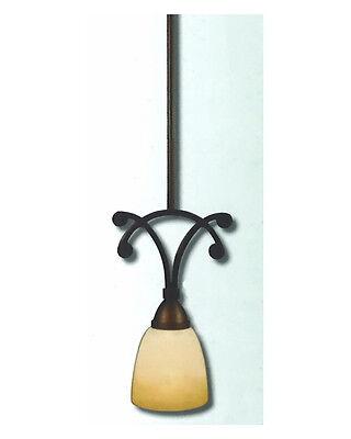 Oil Rubbed Bronze Truscan Scavo Glass Pendant