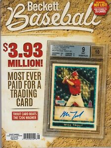 Baseball-Beckett-Price-Guide-Magazine-November-2020-Mike-Trout