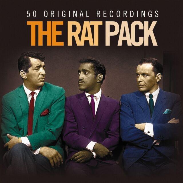 THE RAT PACK - 50 ORIGINAL RECORDINGS 2 CD NEW! DEAN MARTIN/FRANK SINATRA/+
