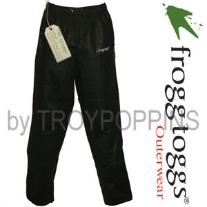 34b131a0a Details about BULL-FROGG TOGGS RAIN GEAR-PS83172-01 MENS BLACK PANTS  SIGNATURE GOLF FISH WET