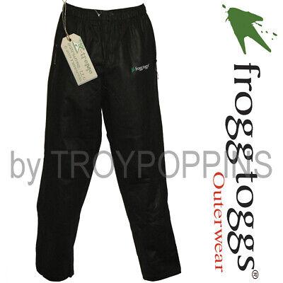 FROGG TOGGS RAIN GEAR-PA93109-01 BLACK PRO ADVANTAGE MENS BIBS FISHING GEAR WET