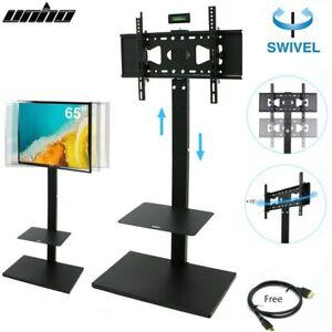 TV-Standfuss-Staender-universal-schwenkbar-Hoehenverstellbar-Fernseher-Halter-32-65