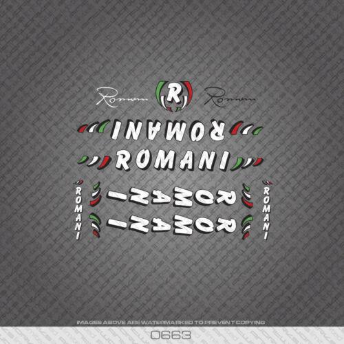 0663 Romani Bicyclette Cadre Tube Autocollants-Decals-Transfers
